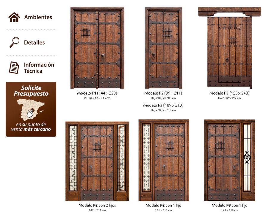 Armarios y puertas rosagro for Puertas principales de madera rusticas